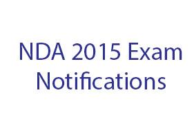 NDA 2015 Exam Notifications